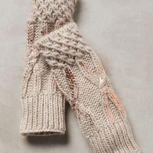 Anthropologie northern lights fingerless gloves